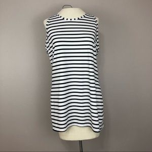 Athleta Small Black white striped racerback top
